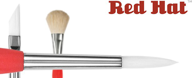 Princeton Red Hat White Synthetic Brushes - 6550 Series