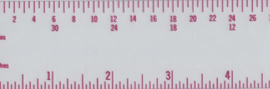 12 inch / pica, Transparent Ruler