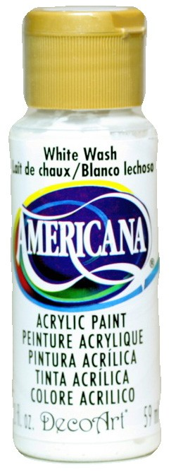 White Wash 2oz Bottle Americana Craft Acrylic Paint By Deco Art