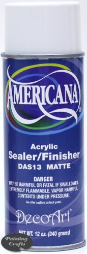 Deco Art Acrylic Sealer/Finisher, 12 oz  Matte Spray - FLAMMABLE