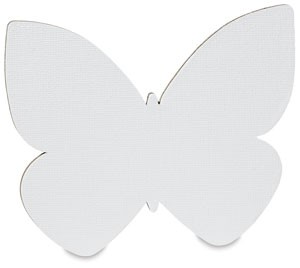 Butterfly, 25-Pack Classroom, Fredrix Jr. Paint-a-Shape Canvas