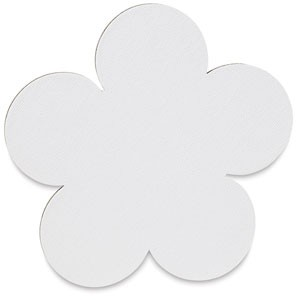 Flower, 25-Pack Classroom, Fredrix Jr. Paint-a-Shape Canvas