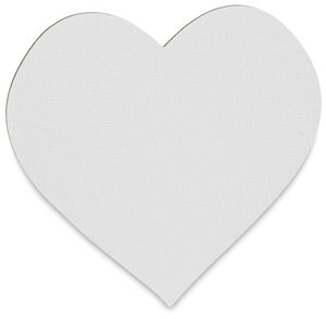Heart, 25 Classroom Pack, Fredrix Jr. Paint-A-Shape Canvas