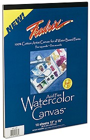 Fredrix Watercolor Canvas Pads