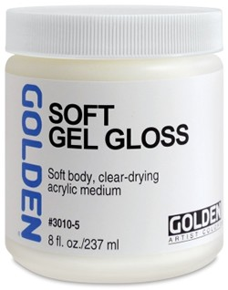 8 oz. Golden Gloss Soft Gel Medium