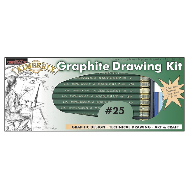 Graphite Drawing Kit Kimberly 12 Piece Set
