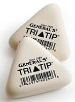 General's Tri-Tip Erasers, Box of 24