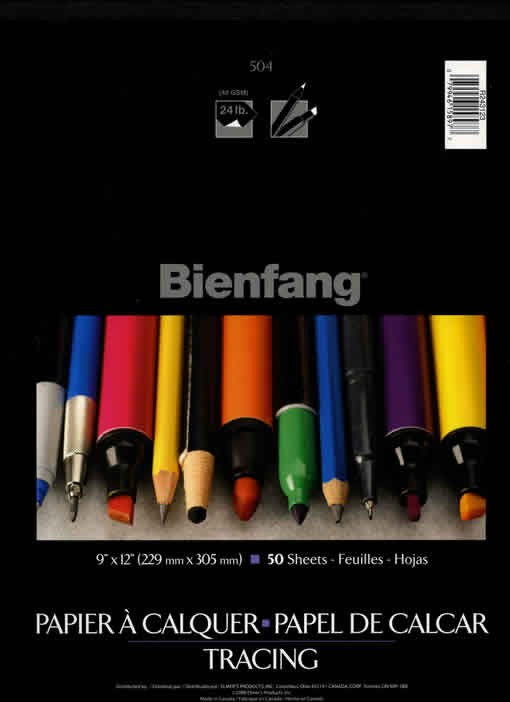 Bienfang Lightweight Tracing Pad, 9 in x 12 in