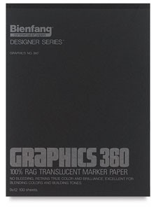 360 Graphics Marker Paper, 9 x 12 - 50 sheets