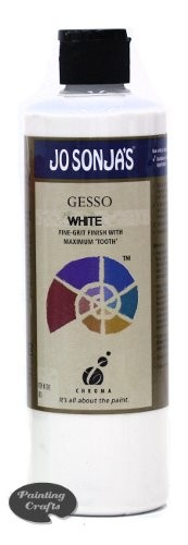 Jo Sonja White Gesso, 16 oz bottle
