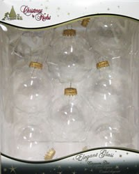 Box of 8 Small Clear Balls, 2-5/8 inches