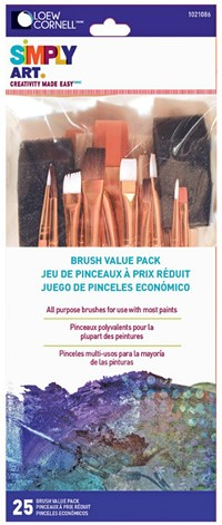 Simply Art Brush Value Pack, 25 Piece
