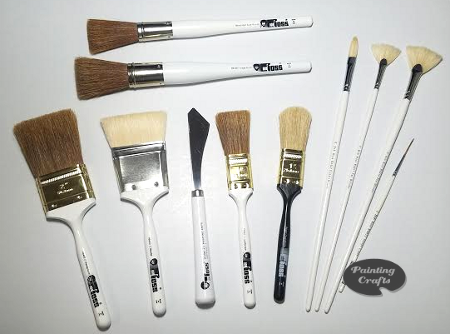 painters brushes 11 pc bob ross landscape brush set painting crafts division of