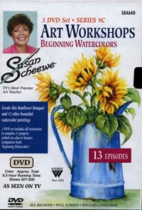 Susan Scheewe Art Workshop Series 9C, 3 DVD Set Front Cover