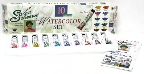 Susan Scheewe's 10 (7ml) Tube Watercolor Set