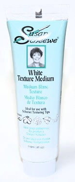 Susan Scheewe White Texture Medium, 4 oz. tube