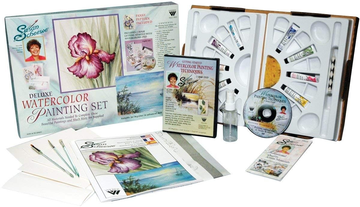 Susan Scheewe Deluxe Watercolor Art Workshop Set