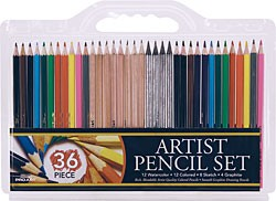 36 Multi-Media Pencil Set, Pro-Art