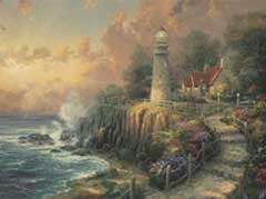 The Light of Peace, Thomas Kinkade Paint by Number 16 x 20, Plaid FolkArt