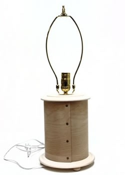 Tall, Bentwood Round Table Lamp