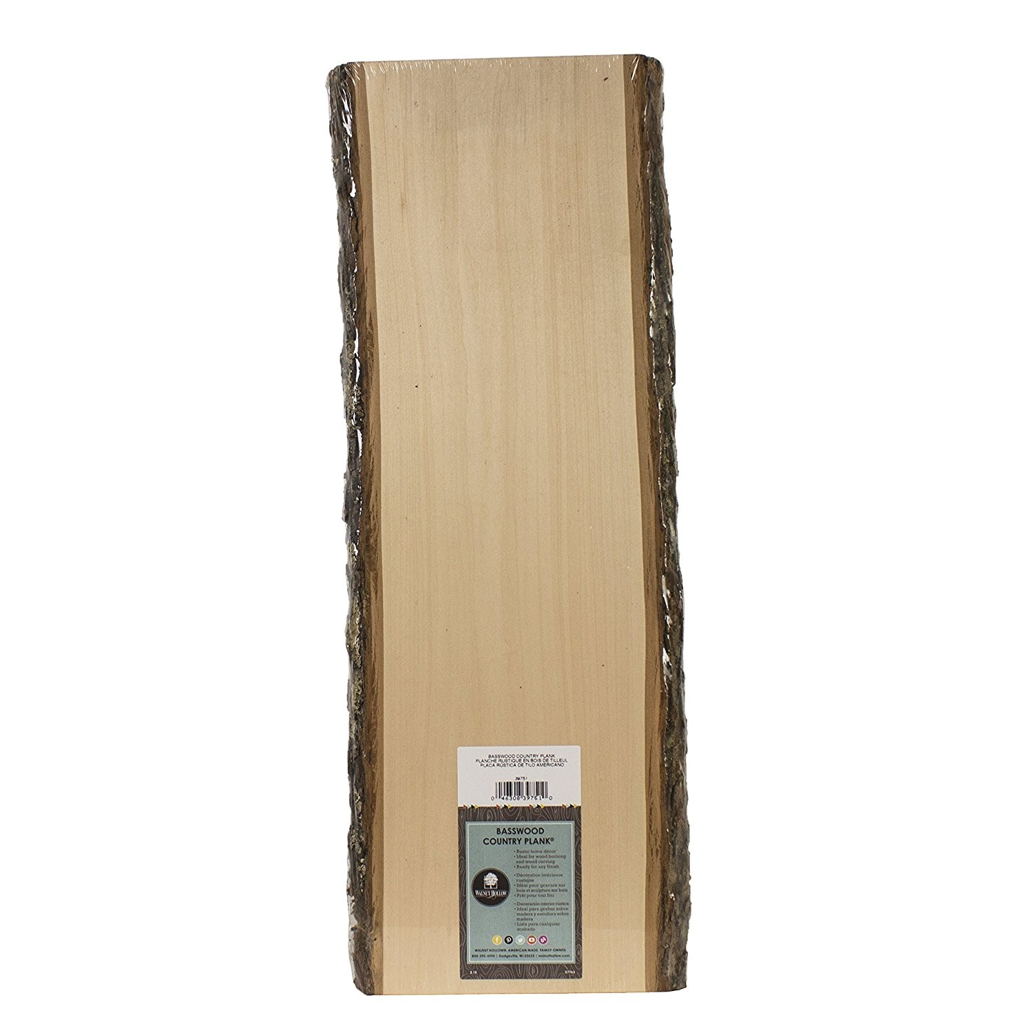 """Basswood Country Plank, 23"""" Tall"""