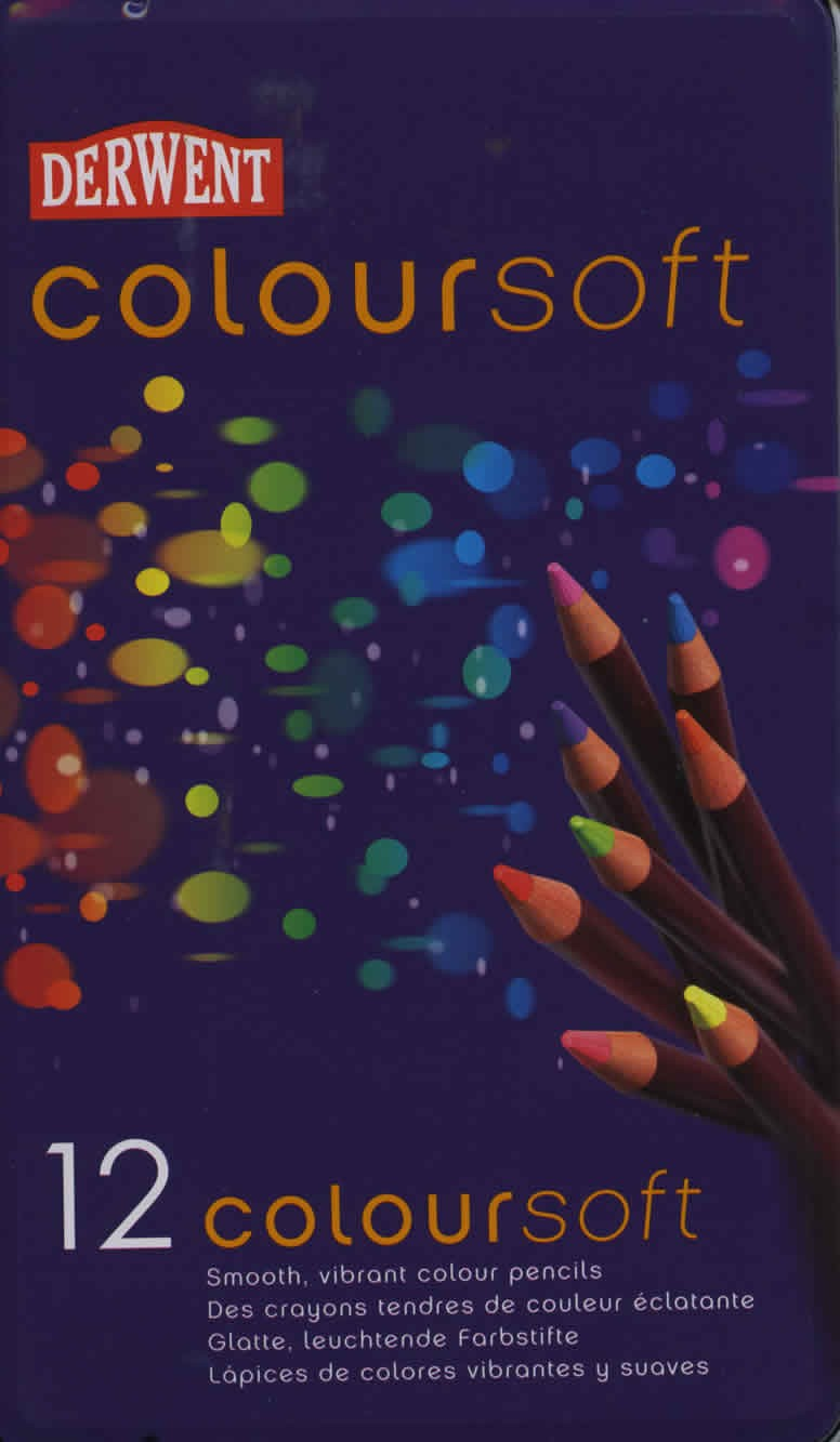 Derwent Colour Soft Pencils, Set of 12
