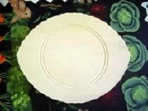 Scalloped Beaded Oval Plate