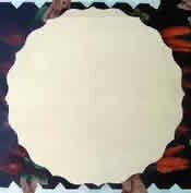 Scalloped Flat Wooden Plate