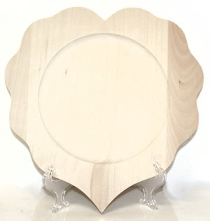 Scalloped Heart Plate