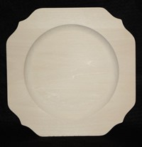 "10"" Scalloped Square Rim Plate"