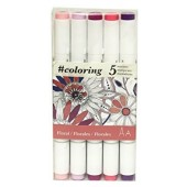 5 Piece Floral Marker Set