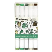 5 Piece Nature Marker Set