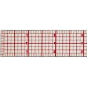6 inch Standard Beveled Clear Ruler, 8th