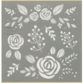 "Whimsical Floral, 8"" x 8"" Americana Decor Stencil, 1 Piece"