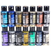 DecoArt Matte Metallic FULL SET of Colors, 14 - 2 oz. bottles