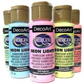 Americana Neon Lights Fluorescent Paint, 2 oz.