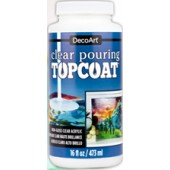 DecoArt Clear Pouring TopCoat, 16 oz.
