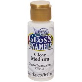 Clear Medium, 2 oz. Gloss Enamel