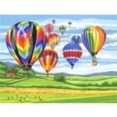 Reeves Senior Paint by Numbers - Hot Air Balloons