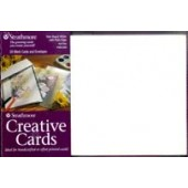 Strathmore Creative Cards - 50 Palm Beach White with Plain Edge Cards and Envelopes
