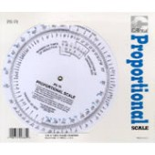 6 inch Round Proportional Scale
