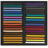 Jack Richeson Assorted Semi-Hard Pastels, Set of 36