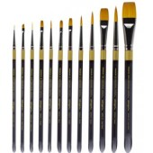 12 Piece Original Gold Premium Brush Set (Acrylic Handle), 9000 Series KingArt