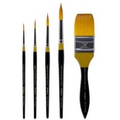 5 Piece Original Gold Premium Brush Set, 9000 Series KingArt