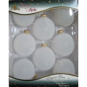 Box of 8 Small Frosted Balls, 2-5/8 inches