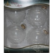 Box of 4 Large Clear Balls, 3-1/4 inches