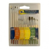 15 Pack All Purpose Brushes