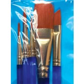 All Media Taklon Brush Set, 5 Piece