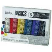 Six Primary Color Starter Liquitex Basics Acrylic Set
