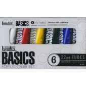 Liquitex Basics Acrylic Set, 6 x 22 ml tubes